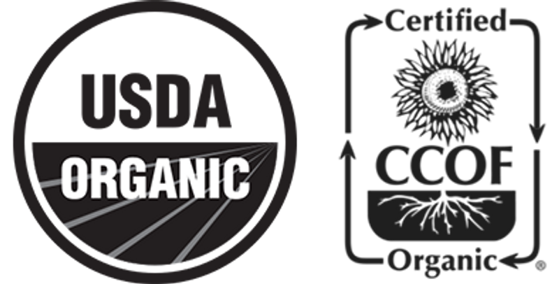 Certified Organic by CCOF & USDA.
