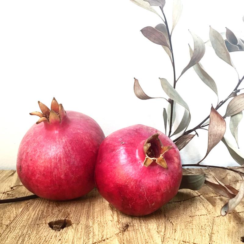 CCOF certified organic pomegranates.