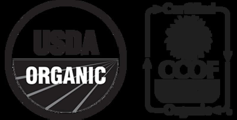 USDA & CCOF certified organic.