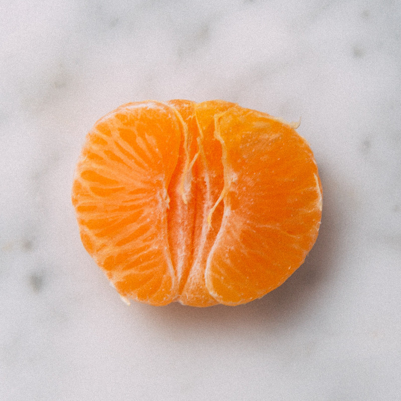 Detail of a peeled Golden Nugget Mandarin