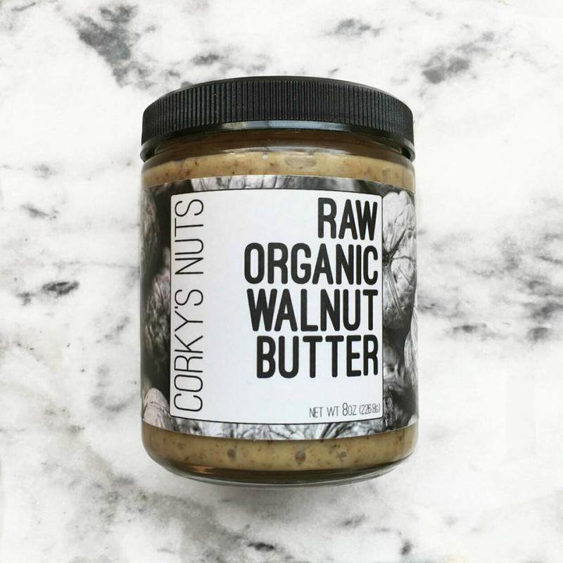 Raw Organic Walnut Butter - 8oz jar