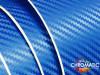 3D Carbon Fibre Deep Blue Vinyl Wrap with ADT