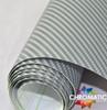 Gloss Silver Carbon Fibre Vinyl Wrap with ADT