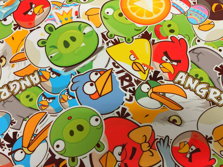 Angry Birds Style Stickerbomb with ADT