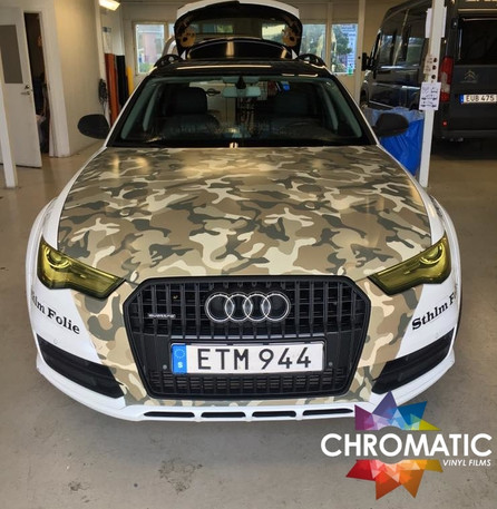 Desert Camouflage Vinyl Wrap With Adt Wrap Direct