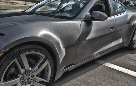Brushed Grey Titanium Vinyl Wrap With Adt Wrap Direct