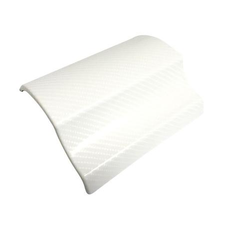 Gloss White Carbon Fibre Vinyl Wrap with ADT