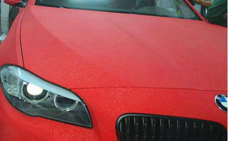 Diamond Sanding Red Vinyl Wrap With Adt Wrap Direct