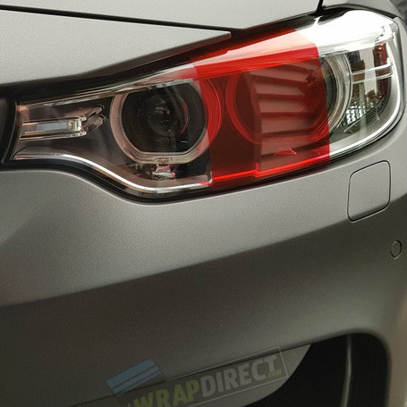 Red Headlight + Tail Light Tint Film