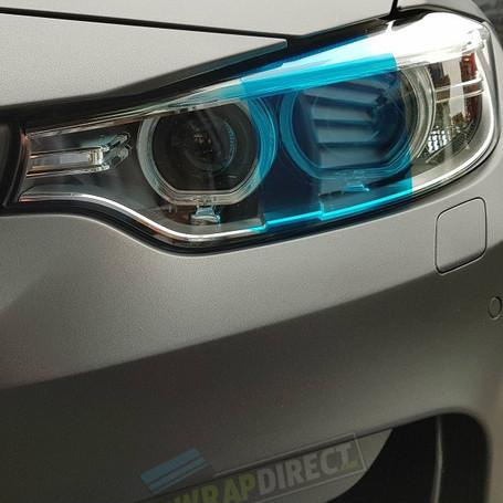 Dark Blue Headlight + Tail Light Tint Film