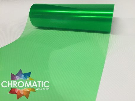 Green Headlight + Tail Light Tint Film