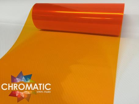 Orange Headlight + Tail Light Tint Film