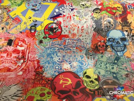 Calavera Style Stickerbomb with ADT