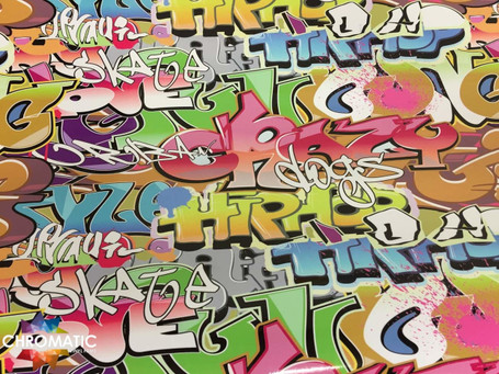 Graffiti Style Stickerbomb with ADT