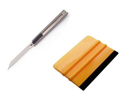 Combo Special! Felt Squeegee and 9mm retractable Blade