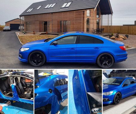 Gloss Metallic Blue Vinyl Wrap With Adt Wrap Direct