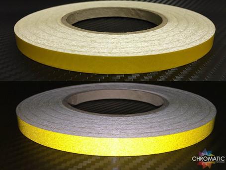 Reflective Tape 1cm x 45.7m - Yellow