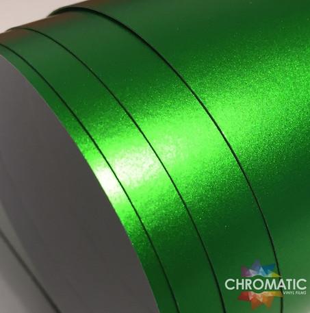 Matte Chrome Green Vinyl Wrap with ADT
