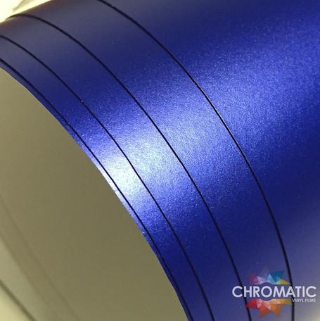 Matte Chrome Blue Vinyl Wrap with ADT