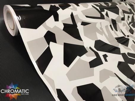 Digital Arctic Snow Camo Vinyl Wrap with ADT
