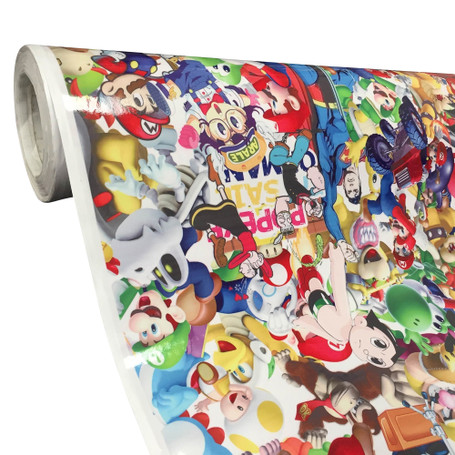 Superhero Style Stickerbomb with ADT