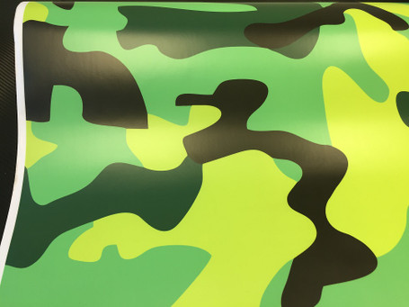 fe048b5eef79a ... Lime Green Camouflage Vinyl Wrap with ADT ...