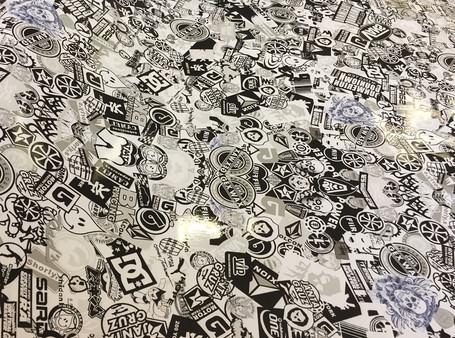Black & White Style Stickerbomb with ADT