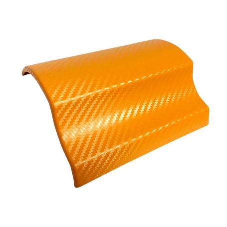 3D Carbon Fibre Orange Vinyl Wrap with ADT