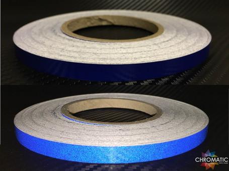 Blue Reflective Safety Tape - 1cm x 45.7m