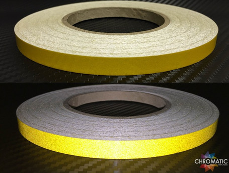 Yellow Reflective Safety Tape - 1cm x 45.7m