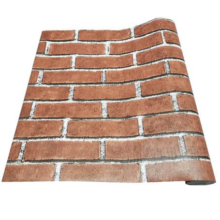 Red Brick Effect Vinyl