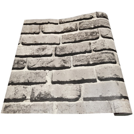 Grey Brick Effect Vinyl