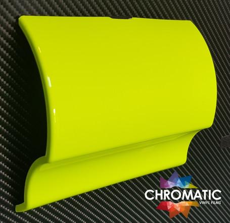 Gloss Neon Yellow Vinyl Wrap with ADT