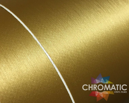 Brushed Gold Metallic Vinyl Wrap with ADT