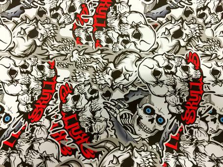 Skulls Style Stickerbomb with ADT