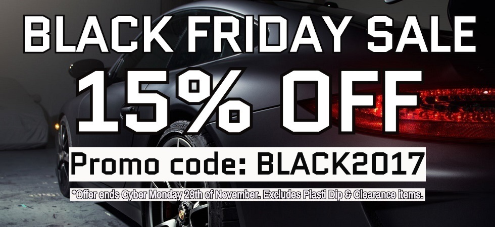 BLACK FRIDAY WEEK LONG SALE! 15% OFF!