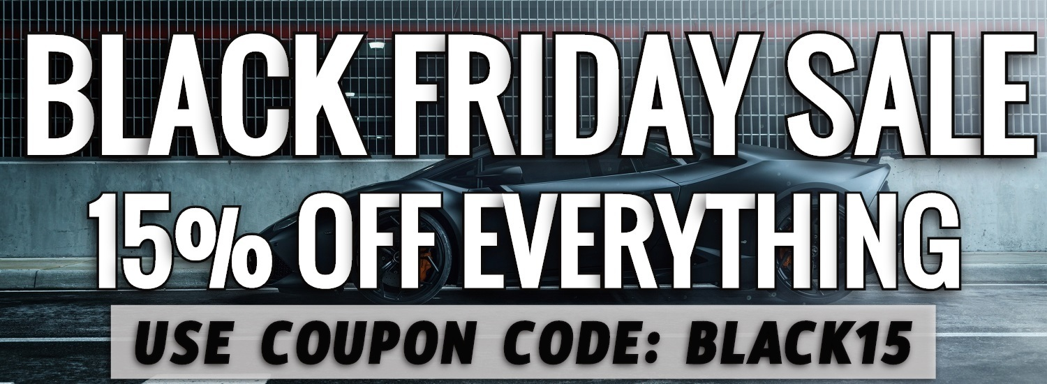 BLACK FRIDAY SALE NOW ON! 15% OFF EVERYTHING