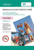 Digital Printing Photo Paper Sheets 50 PACK: 8X10