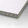 10mm Corrugated plastic sheets: 18X24 : 100% Virgin White : Single pc
