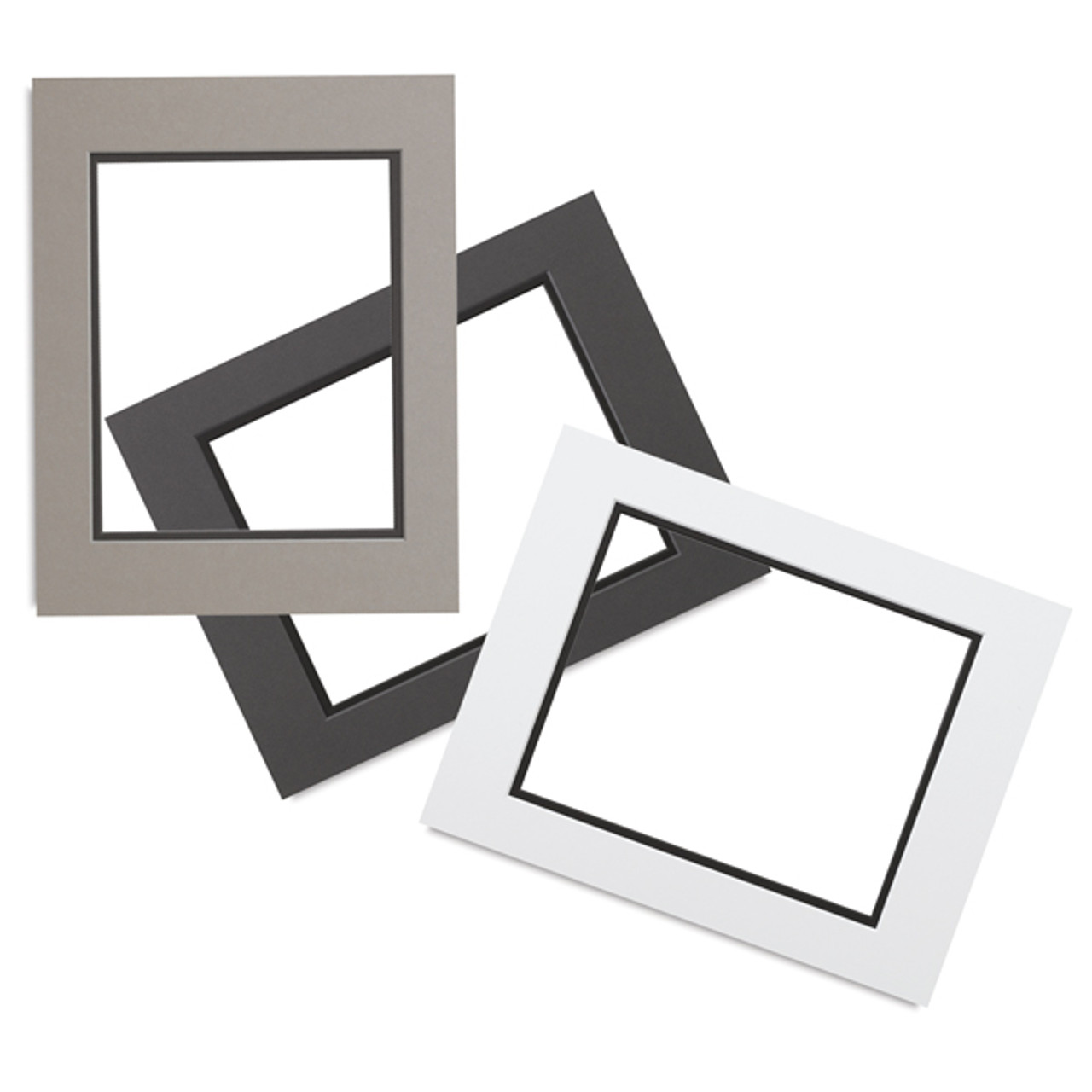 0060 White Core Double Mats 20 X 24 For 16 X 20 Artwork