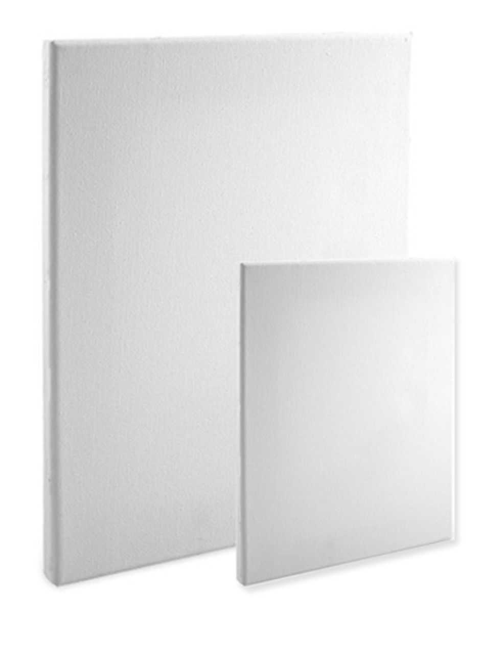 "6X6 Bulk Discount 5//8/"" Econo White 2 Pack Economy Stretched Canvas Panels"