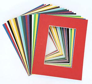 0060 White Core Single Mats 11x14 For 8x10 Artwork