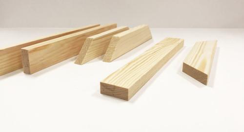 """3/4""""  Deep Standard Braces 8"""" CORNER BRACES: Single Piece"""