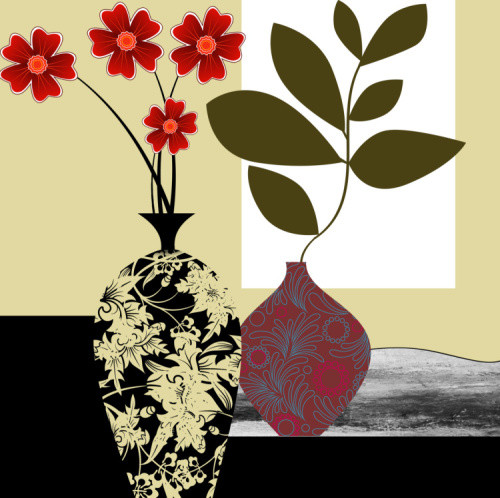 """Home Decor Giclee Canvas Print+3/4"""" Gallery Stretching: 100% Cotton Canvas  : 24x24-Part1"""