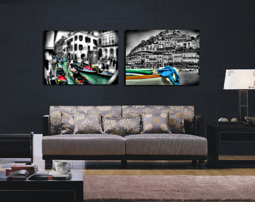 """Home Decor Giclee Canvas Print+1-1/2"""" Gallery Stretching: 100% Cotton Canvas : 24x48-Part2"""