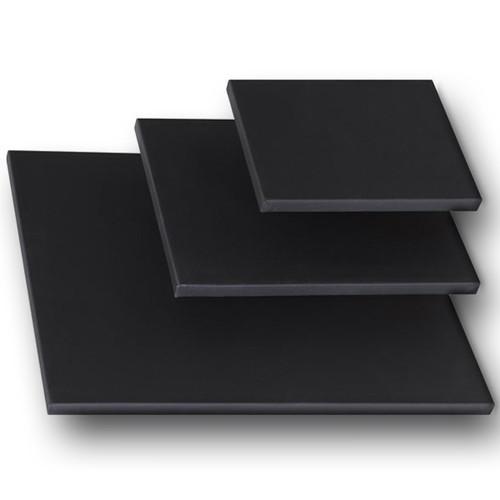 "3/4"" Stretched Black Cotton Canvas 18X36: Single Piece"