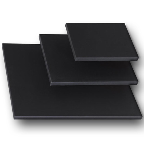 """2-1/2"""" Stretched Black Cotton Canvas  48X48*: Box of 5"""