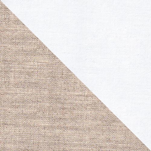 10 Oz Extra Fine ,Quadruple Primed 100% Linen Canvas-Unprimed side(bottom) / Primed side (top).