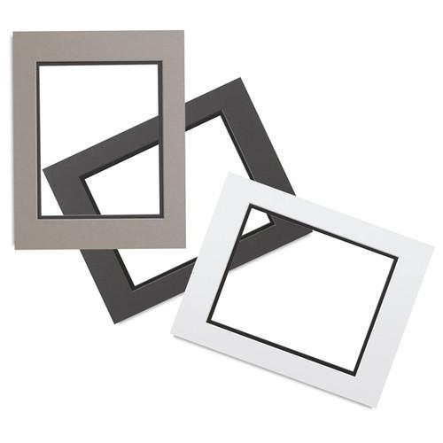0.060'' White Core Double Mats : 12 X 16  For  9 X 12 Artwork