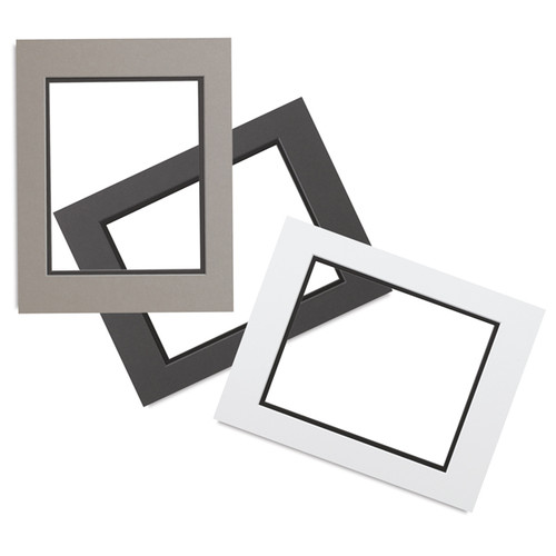 0.060'' White Core Double Mats : 12 X 16  For  9 X 12 Artwork